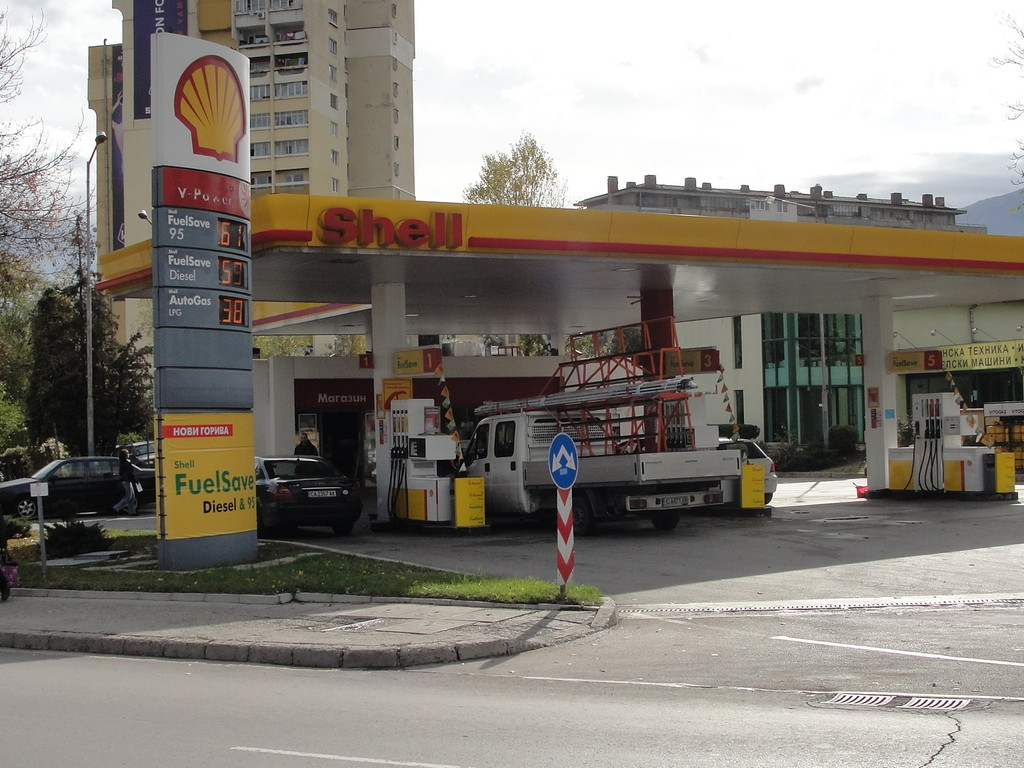 Shell - Petrol station, lpg